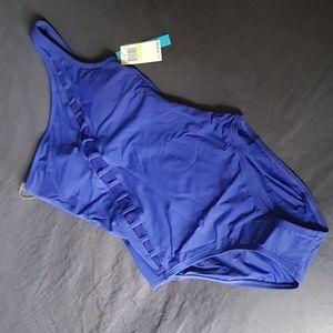 Bleu Rod Beattie One Shoulder Swimsuit